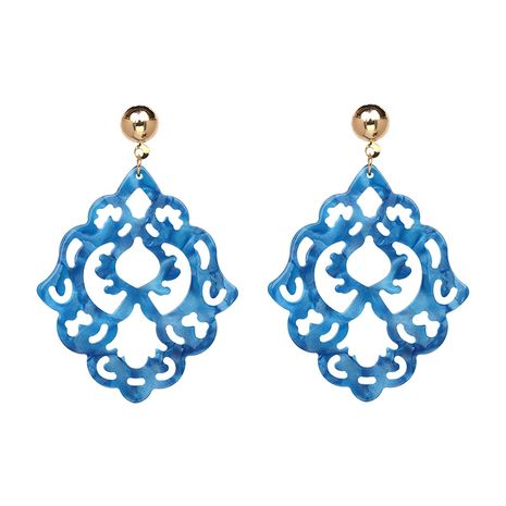 Punk Plastic  Earrings Flowers (blue)  NHJJ3885-blue's discount tags