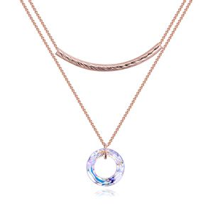 Austrian Imitated crystal Necklace - Half-Life Rings (Rose Alloy) NHKSE27102