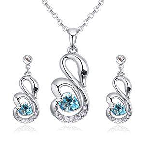 Austrian imitated crystal set - romantic angel (sea blue) NHKSE27095