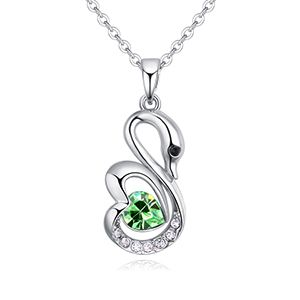 Austrian Imitated crystal Necklace  Romantic Angel Olive NHKSE27090
