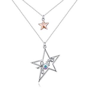 Austrian Imitated crystal Necklace  Star Love Alloy Phantom NHKSE27025