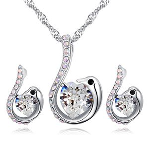 Austrian Imitated crystal Set - Review Swan (White) NHKSE27016