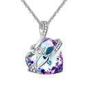 Austrian imitated crystal necklace  streamer like arrows color white NHKSE26954