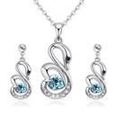 Austrian imitated crystal set  romantic angel sea blue NHKSE27095