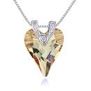 Austrian imitated crystal necklace  love life lotus purple NHKSE27081