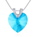 Austrian imitated crystal necklace  Heart Time color white NHKSE27076