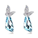 Austrian imitated crystal earrings  Butterfly Love Rose NHKSE27063