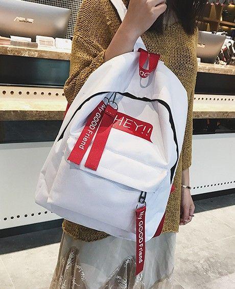 Sac à dos Fashion Canvas (blanc) NHXC0547-blanc's discount tags