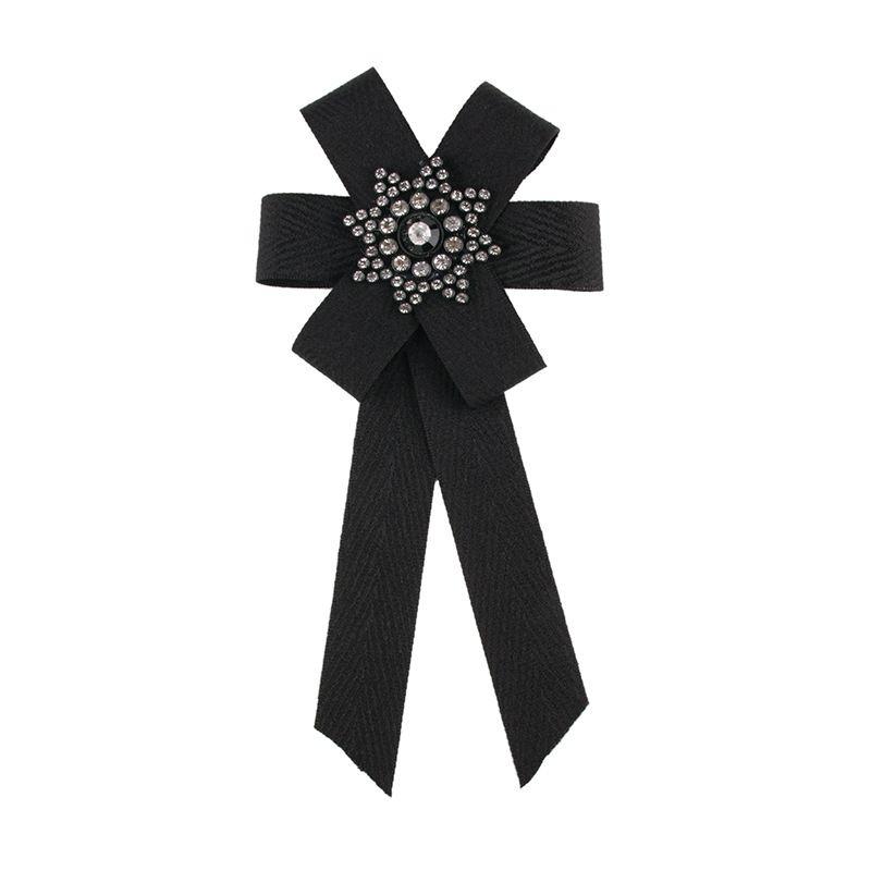 Fashion Cloth  brooch Bows (black)  NHJQ9784-black