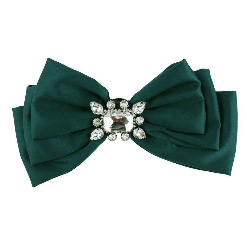 Fashion Alloy Rhinestone brooch Bows (green)  NHJQ9797-green