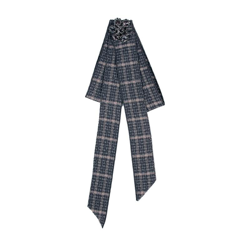 Fashion Alloy Rhinestone brooch Bows gray  NHJQ9799gray