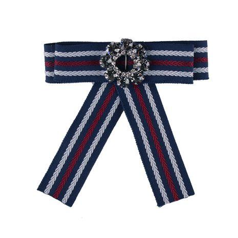 Fashion Alloy Rhinestone brooch Bows (blue)  NHJQ9801-blue's discount tags