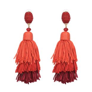 Other Plastic  Earrings Geometric (red)  NHJJ3916-red's discount tags