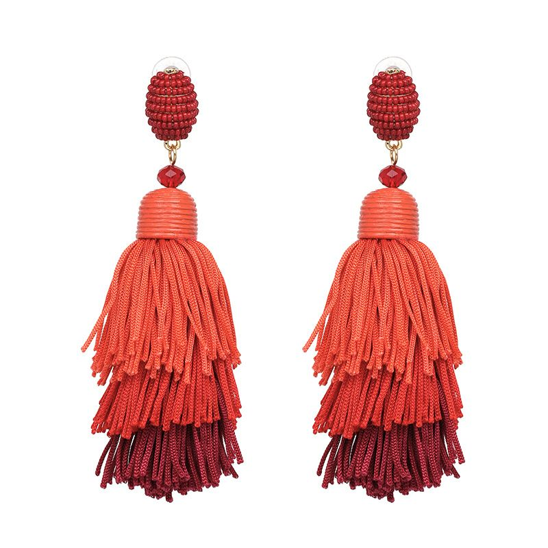 Other Plastic  Earrings Geometric (red)  NHJJ3916-red