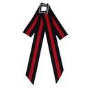 Broche en alliage de mode strass noeuds rouge + noir NHJQ9798rouge + noir
