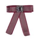 Fashion Alloy Rhinestone brooch Bows red  NHJQ9805red