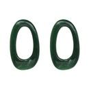 Korea Plastic  earring Geometric green  NHJJ3907green