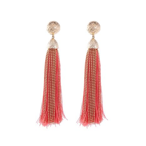 Fashion Alloy plating Earrings Tassel (red)  NHQD4329-red's discount tags