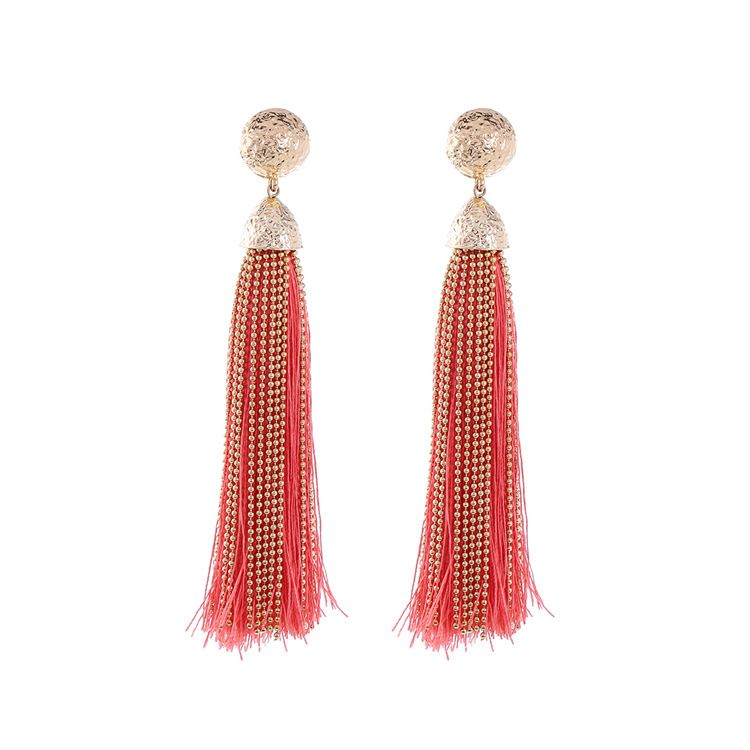 Fashion Alloy plating Earrings Tassel (red)  NHQD4329-red