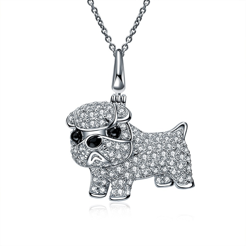 Fashion Alloy plating necklace Animal (White alloy)  NHLJ3623-White alloy