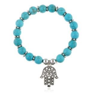 Other Natural Stone  Bracelets  (blue)  NHKQ1417-blue's discount tags