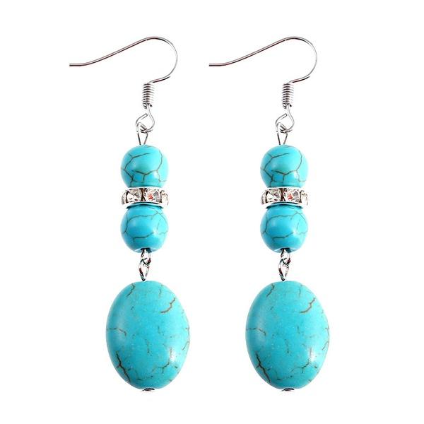 Fashion Alloy plating earring Animal (blue)  NHKQ1419-blue