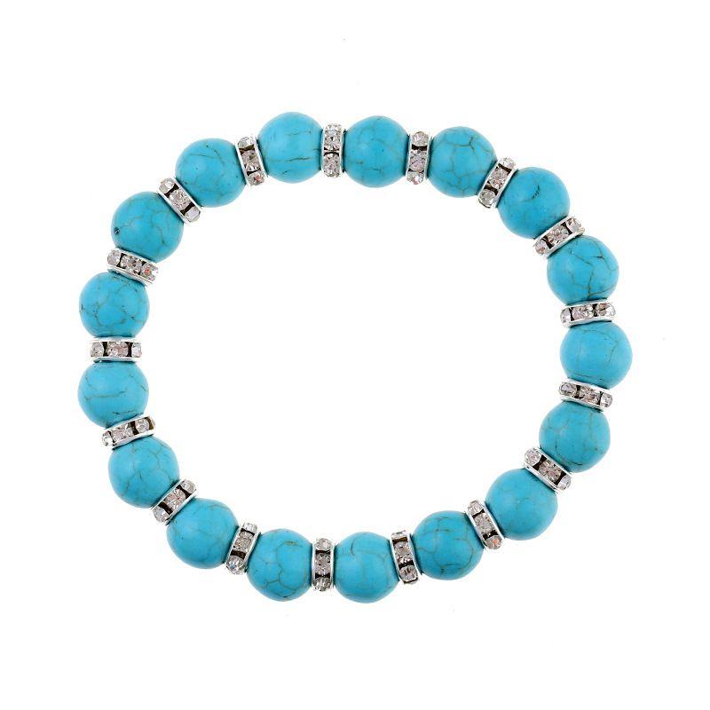 Other Natural Stone  Bracelets Geometric (blue)  NHKQ1421-blue
