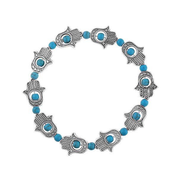 Other Natural Stone  Bracelets Geometric (Alloy + blue)  NHKQ1425-Alloy + blue