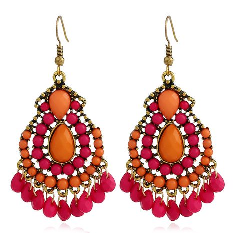 Fashion Alloy Rhinestone earring Geometric (Photo Color)  NHKQ1438-Photo Color's discount tags