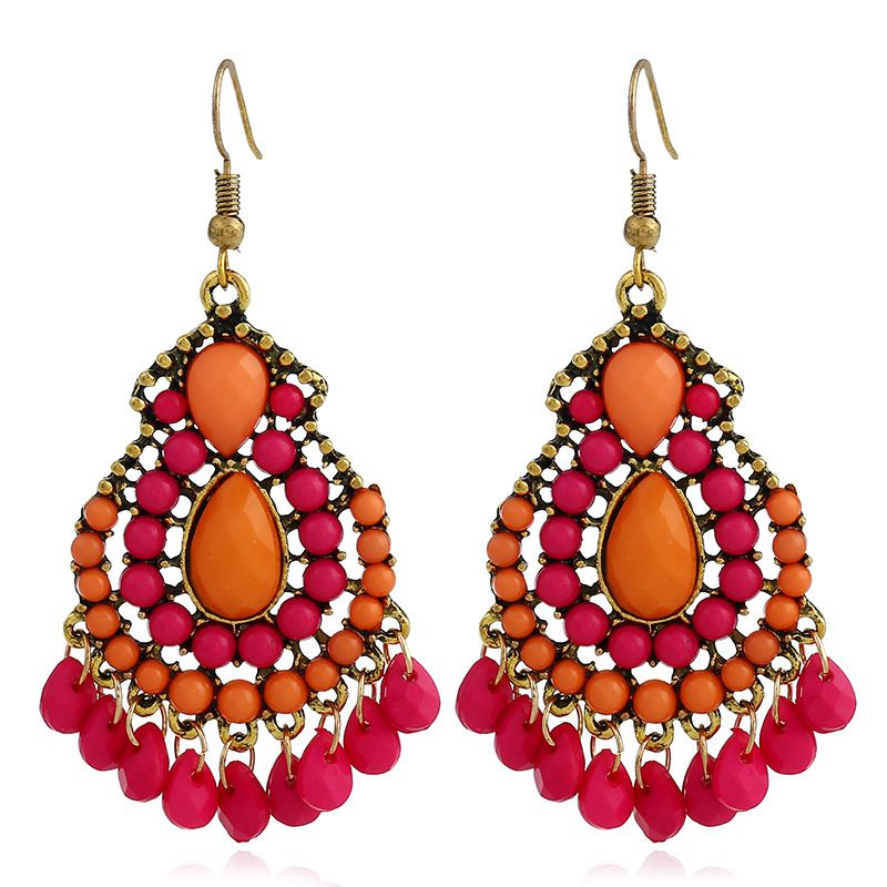Fashion Alloy Rhinestone earring Geometric (Photo Color)  NHKQ1438-Photo Color