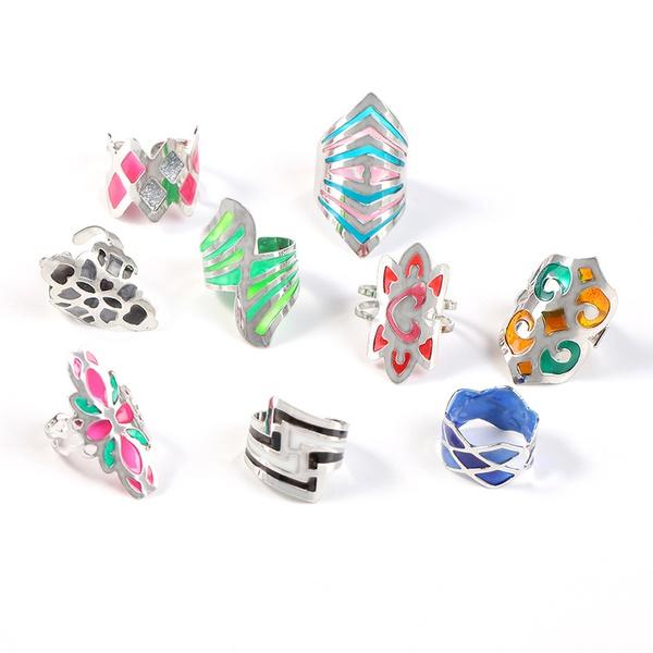 Fashion Alloy plating Rings Geometric (random)  NHKQ1440-random