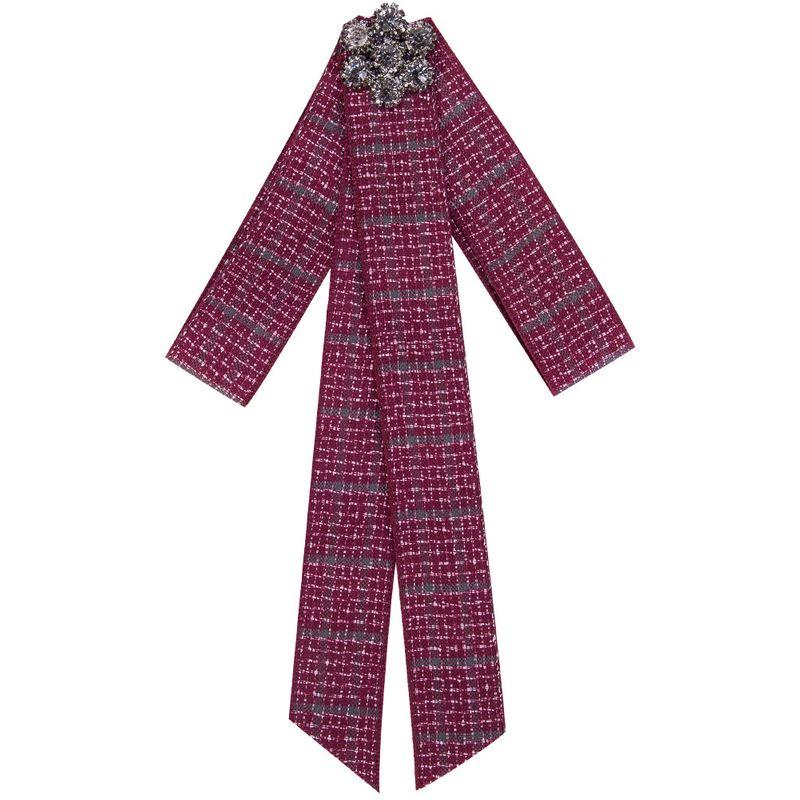 Fashion Alloy Rhinestone brooch Bows (red)  NHJE0924-red