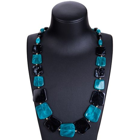 Fashion Alloy plating necklace Geometric (Blue black)  NHJE0928-Blue black's discount tags