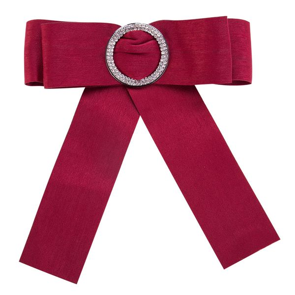 Fashion Alloy Rhinestone brooch Bows (red)  NHJE0929-red