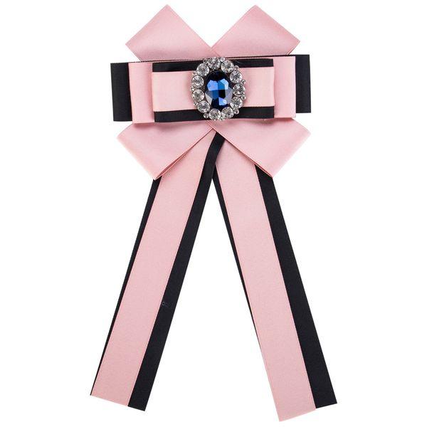 Fashion Alloy Rhinestone brooch Bows (Black powder)  NHJE0933-Black powder