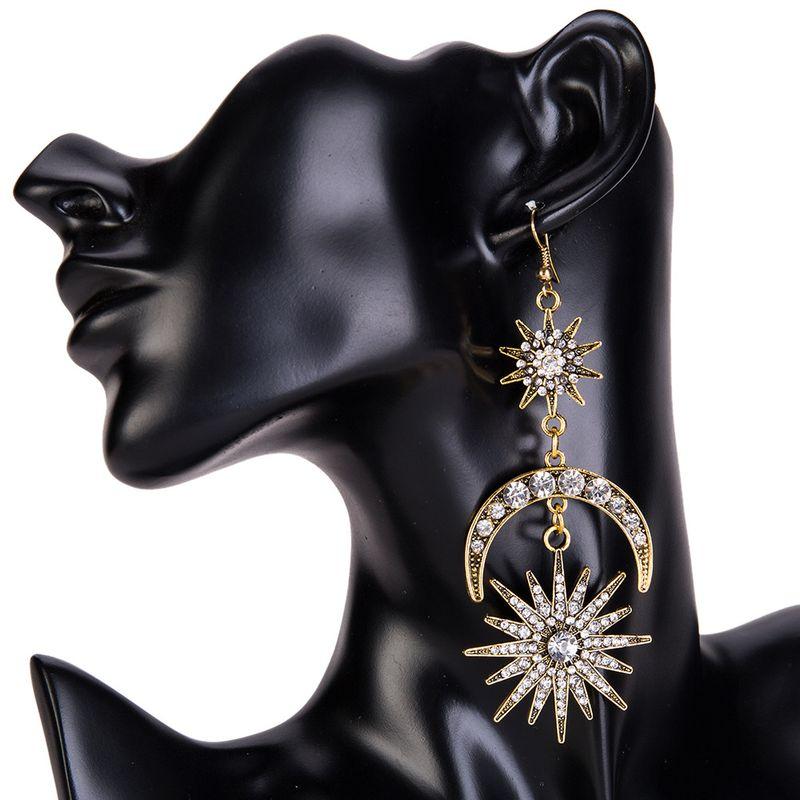 Fashion Alloy Rhinestone earring Geometric (Old alloy)  NHJE0938-Old alloy