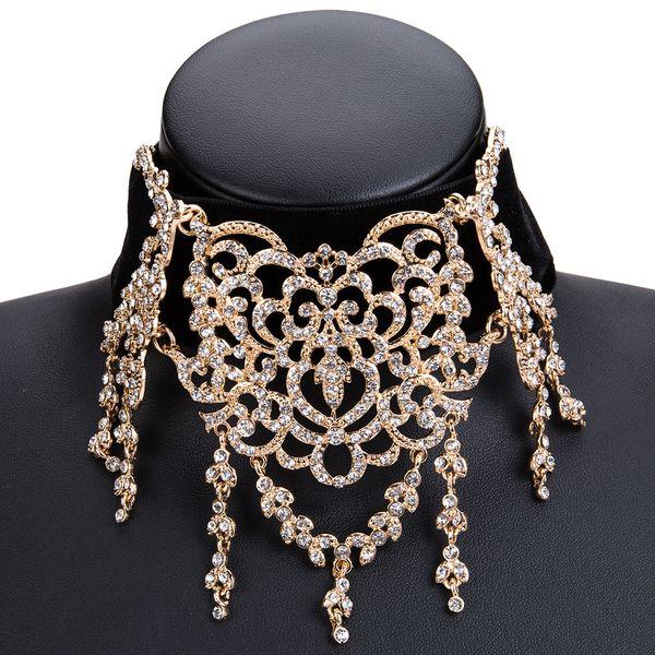 Fashion Alloy Rhinestone necklace Geometric (Alloy)  NHJE0945-Alloy