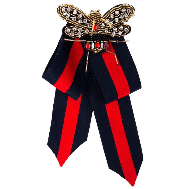 Fashion Alloy Rhinestone brooch Bows (butterfly)  NHJE0951-butterfly