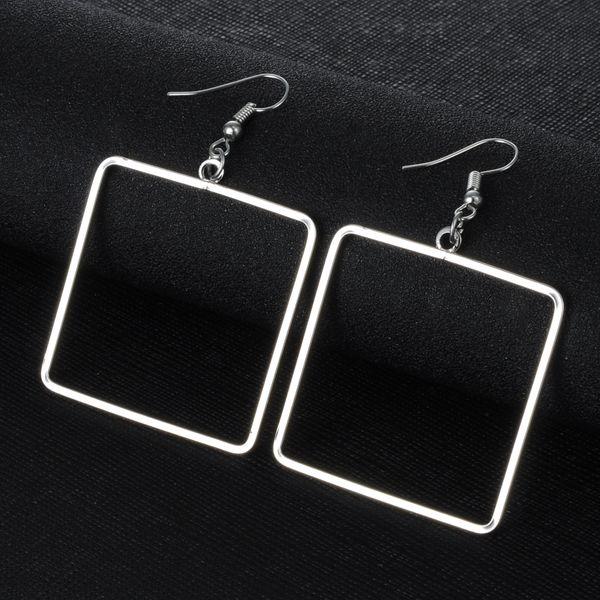 Fashion Imitated crystal&CZ plating earring Geometric (Alloy 4cm)  NHIM1048-Alloy 4cm
