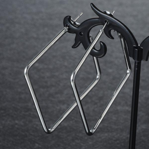 Fashion Imitated crystal&CZ plating earring Geometric (Alloy 4cm)  NHIM1049-Alloy 4cm