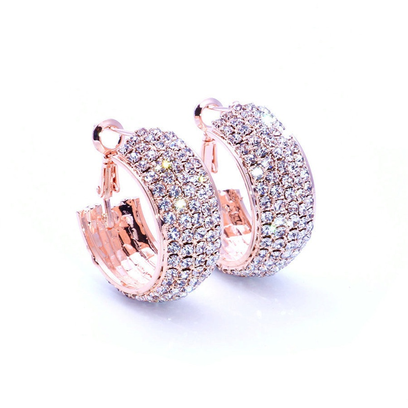 Fashion Imitated crystalCZ plating earring Geometric black  NHIM1051black