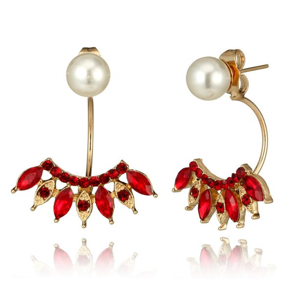 Fashion Alloy plating earring Geometric (red)  NHGY0931-red
