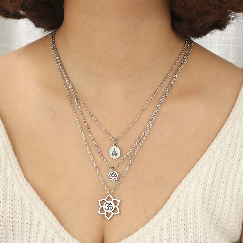 Fashion Alloy plating necklace  (Alloy)  NHGY0949-Alloy