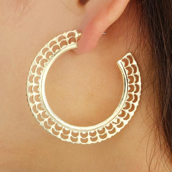 Fashion Alloy plating earring Geometric (alloy)  NHGY0942-alloy