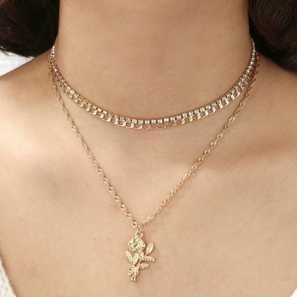 Fashion Alloy plating necklace  (Alloy)  NHGY0955-Alloy