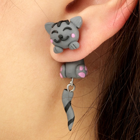 Fashion Imitated crystal&CZ  earring Animal (gray)  NHGY0963-gray's discount tags