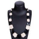 Fashion Alloy plating necklace Geometric Blue black  NHJE0928Blue black
