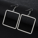 Fashion Imitated crystalCZ plating earring Geometric Alloy 4cm  NHIM1048Alloy 4cm