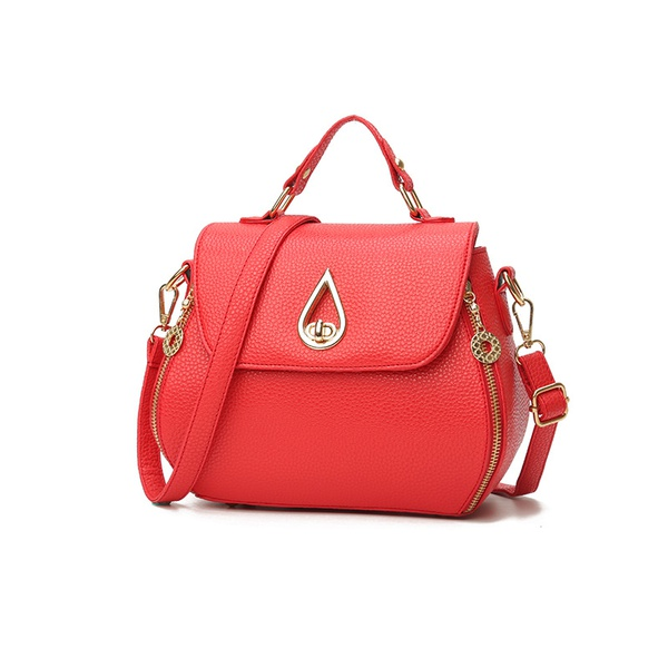 Cute PU  Shoulder Bags  (red)  NHPB1717-red