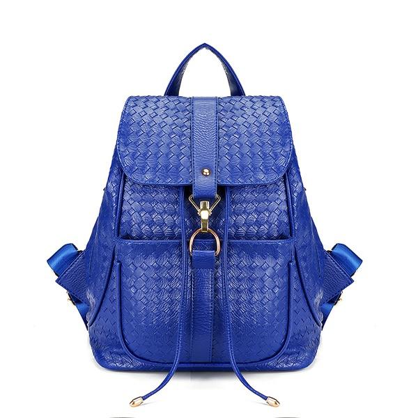 Cute PU  backpack  (blue)  NHPB1718-blue